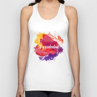feminism Tank Tops featuring Feminism Watercolor by Pia Spieler