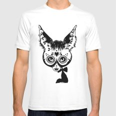 Fox White MEDIUM Mens Fitted Tee