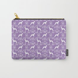 Italian Greyhound silhouette floral dog breed unique pet breed gifts Carry-All Pouch
