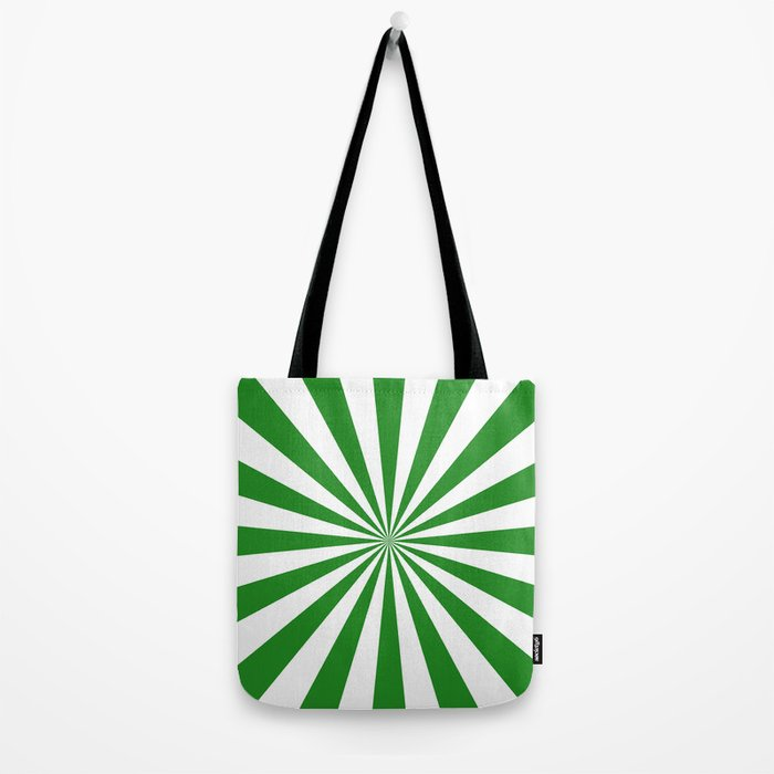 Starburst (Forest Green/White) Tote Bag