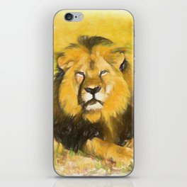 Magnificent Lion iPhone Skin