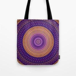 Royal Purple Gold Mandala Design Tote Bag
