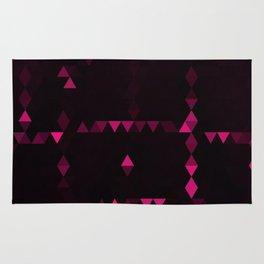 Pink triangulation Rug