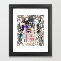 Audrey Type Abstract Art Framed Art Print