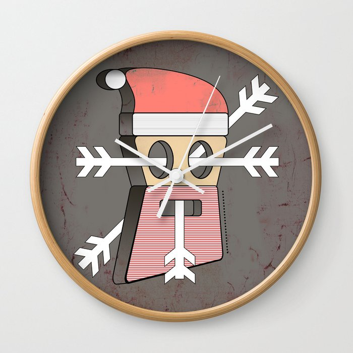 Merry christmas wall clock by ameliedufduf society