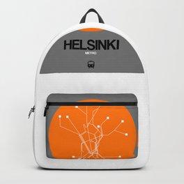 Helsinki Orange Subway Map Backpack