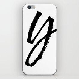 Letter Y Ink Monogram iPhone Skin