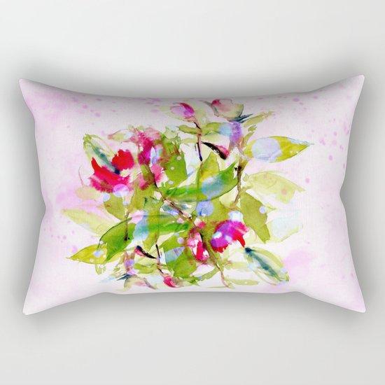 watercolors abstract bouquet Rectangular Pillow
