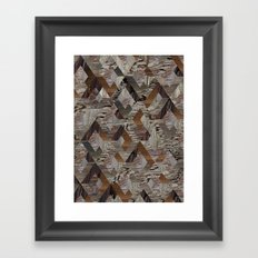 Wood Quilt Framed Art Print