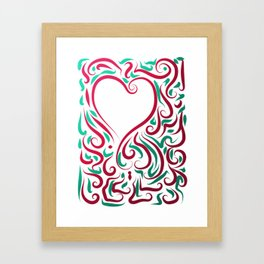 Heart Graphic by Leslie Harlow Framed Art Print
