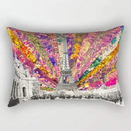 Vintage Paris Rectangular Pillow
