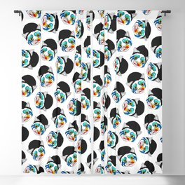 Ga Ga Cat Head Blackout Curtain