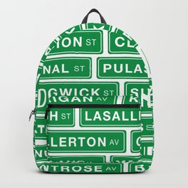 Famous Chicago Streets // Chicago Street Signs Rucksack