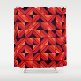 Fake wood pattern Shower Curtain