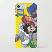 teen titans iPhone & iPod Cases featuring Teen Titans by Paige Thulin