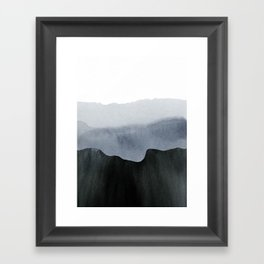 mountain horizon 2 Framed Art Print