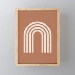 Woodblock arch terracotta Framed Mini Art Print