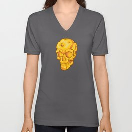 Cheesehead Skull Unisex V-Neck