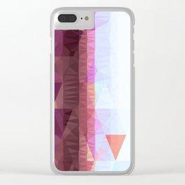 Lavender Purple Abstract Geometric Triangle Polyglen Wallart Illustration Clear iPhone Case