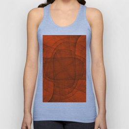 Fractal Eternal Rounded Cross in Red Unisex Tank Top