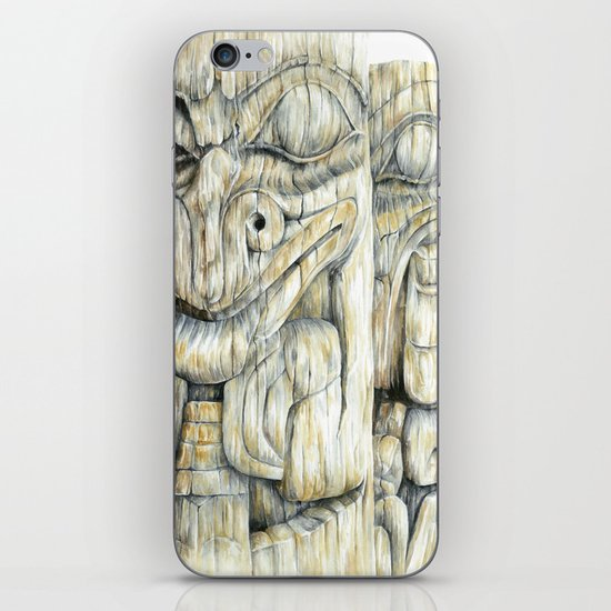 Haida Totems iPhone & iPod Skin