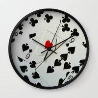 poker Wall Clocks featuring Poker by Jackie