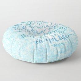 For God So Loved the World - John 3:16 Floor Pillow