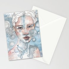 Meditation II, watercolor artwork Stationery Cards