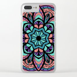 Mandala Pinks & Blues  #GraphicArt #SpiritualArt Clear iPhone Case