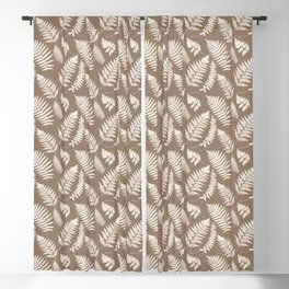 Woodland Fern Pattern, Taupe Tan and Cream Blackout Curtain