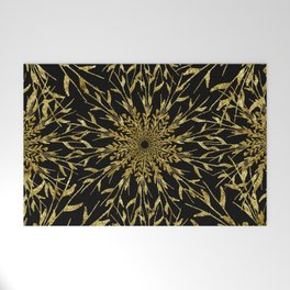 Black Gold Glam Nature Welcome Mat