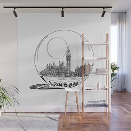 LONDON City in a Glass Ball Wall Mural