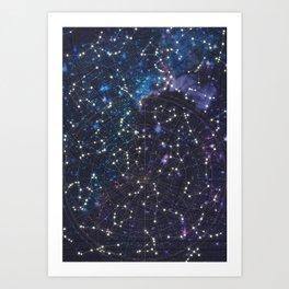 Sky map Art Print