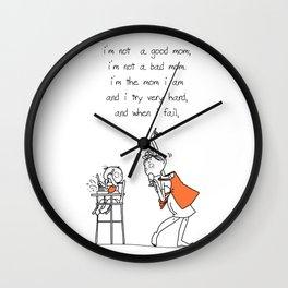 [Quotes] I'm mom Wall Clock