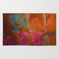 baroque Area & Throw Rugs featuring Baroque Cubism by Tony Vazquez