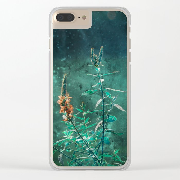 Fairy Flowers in the Jade Moonlight Clear iPhone Case