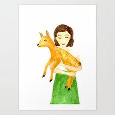 Audrey & Pippin Art Print