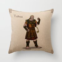 valar morghulis Throw Pillows featuring Tulkas by wolfanita