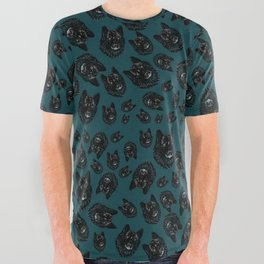 Totem Romeo the wolf All Over Graphic Tee