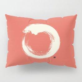 Red Enso / Japanese Zen Circle Pillow Sham