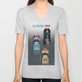 GT40 Le Mans 1966, Finish side by side Unisex V-Neck