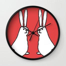 Usagi Rabbits Wall Clock