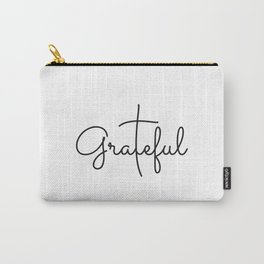 Love Grateful inspirational  Christian yoga positive Quote Carry-All Pouch