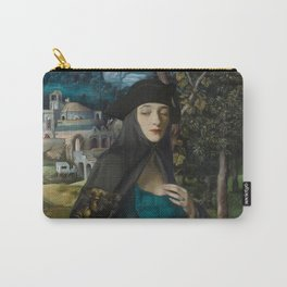 """""""Mystery woman in the forest among flowers"""" Carry-All Pouch"""