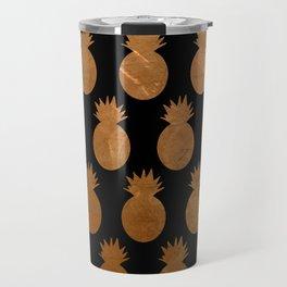 Metallic Pineapples Travel Mug