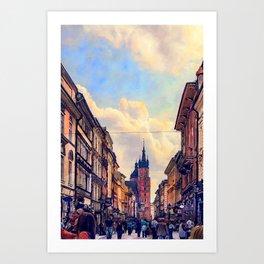 Cracow Florianska street Art Print
