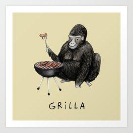 Grilla Art Print