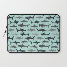 Sharks nature animal illustration texture print marine biologist sea life ocean Andrea Lauren Laptop Sleeve