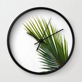 Single Palm Leaf Wall Clock
