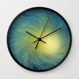 Faceted Atmospheric Spiral Wall Clock